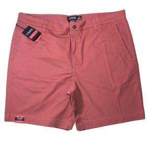 NWT Chaps stretch men shorts light red size 40